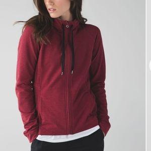Lululemon Take Ten Hoodie Sweatshirt Red Rosewood